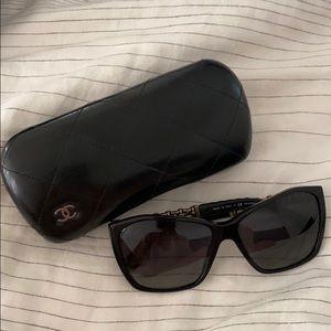 Chanel Polarized black frame sunglasses